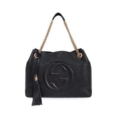 soho patent chain bag black 2